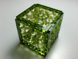 Green Cube by UniMatrixZero