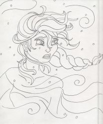 Unofficial Frozen Coloring Book Elsa Outside by MyThoughtsAreDeep
