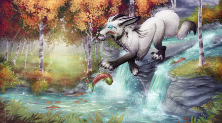 [C] .: Fishing spot :. by ancarie-bluewolf