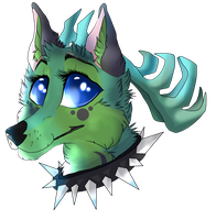 [Animal Jam] Detailed Headshot -Personal Art- by Sandy-Claw
