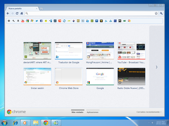 Google Chrome Seven basic theme by DeMoNBL4dE