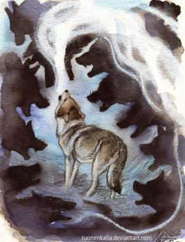 A Legend of Wolf Song I by Tuonenkalla