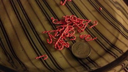Polymer Clay Candy Canes by iheartcutestuffs