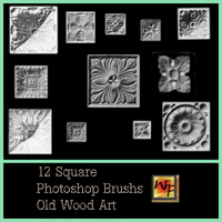 Old Wood Art Square PS Brushs by WebFoot