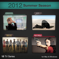 2012 Summer Season TV Series Folders by paulodelvalle