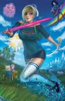 ADVENTURE TIME WITH FIONNA AND CAKE by W-E-Z