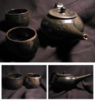 teapot and two cups by artangst