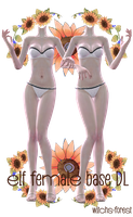 [MMD] Elf female base from Tera by witchs-forest