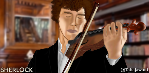 Sherlock - Digital Painting by TahaJawaid
