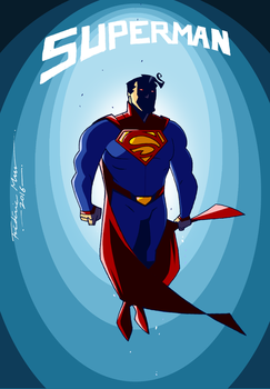 SUPERMAN REDESIGN by Frederic-Mur