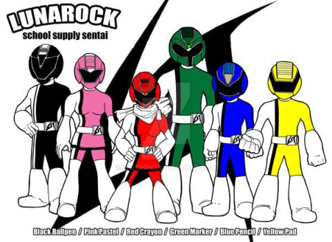 lunarock school supply sentai by ikotron