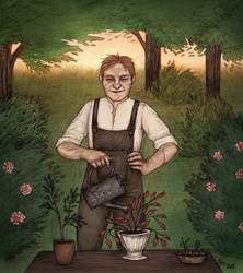 Gardener at Work by nekkuu
