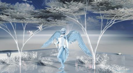 Frost Blue Angel by VeeSwan