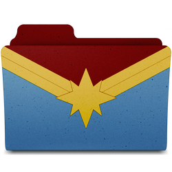 Captain Marvel Folder by Crisds03