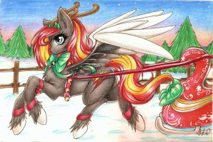 One Pony Open Sleigh by BunnyWhiskerz