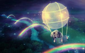 Land of Moon Rainbows by MariLucia