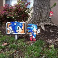 Sonic and Knuckles by Night-TAG