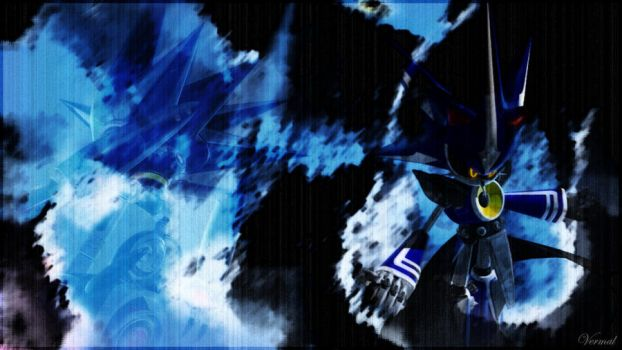 Metal Sonic Wallpaper by Vermal21