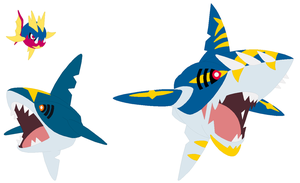 Carvanha, Sharpedo and Mega Sharpedo Base