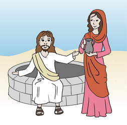 Jesus and the Samaritan Woman by ninique
