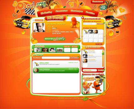 web design tictac naranja by diego64