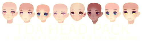 TDA HEAD PACK DL by kreifish