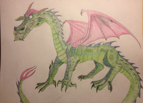 Elliott the Dragon 2016 Design by Dragonfire810