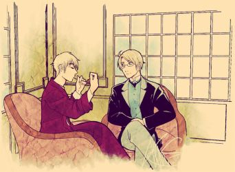APH - Holmes and his Watson by ShujiE