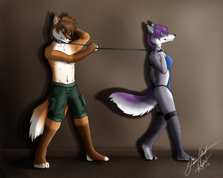 Commission for Werefox - Jess in Charge by Raphial