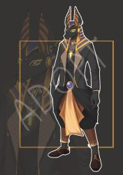 [Auction Closed] Black Anubis by MaddyPony