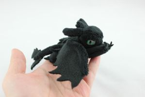 TINY Toothless Plush by SweetEmii