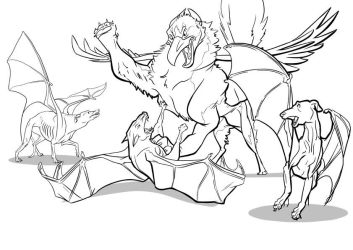 Oops- Cass vs The Hec Hounds Inked by Gingco
