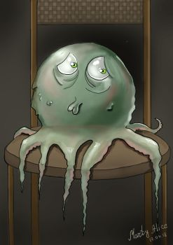 Sad octopus by JerryGrey