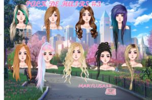 Pack hairs MY CANDY LOVE (UL) by Marylusa18