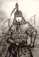 Aerye Hwang-Shi (Armored) of Jima Seon-Guk by Gambargin