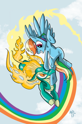 Rainbow Dash vs. Tianhuo by LytletheLemur