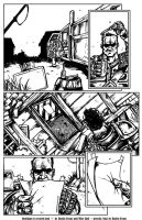 Hooligan issue 1 page 6 pencils and inks by DustinEvans