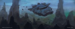 Speed painting - flying car by SHadoW-Net