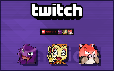 COMMISSION - Pokemon Twitch Emotes by darside34
