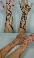 Henna Art - Before and after by OdeeQuack
