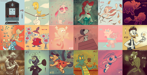 18 Characters, 18 Palettes - Version B by YouHaveAShortMemory