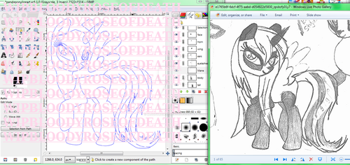 WIP LINEART PONYDEVID