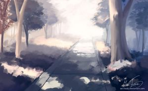 A Path in the Woods by darue
