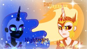 Daybreaker and Nightmare Moon eqg(with effects) by GalaxyDiadmondStar