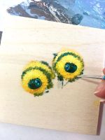 Two Bumbles in progress by camilladerrico