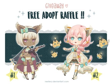 FREE ADOPT RAFFLE  [CLOSED - Winners announced] by Nestery