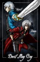 Devil May Cry - Dante, Virgil by Stealthos-Aurion