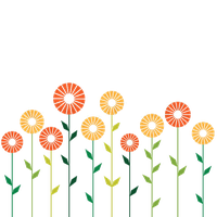 Cute Stylish Abstract Flowers PNG by HanaBell1