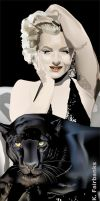 Marilyn Monroe with Panther by kfairbanks