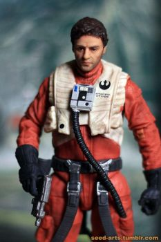 Poe Dameron 6'' Black Series Custom Repaint by Armeleia
